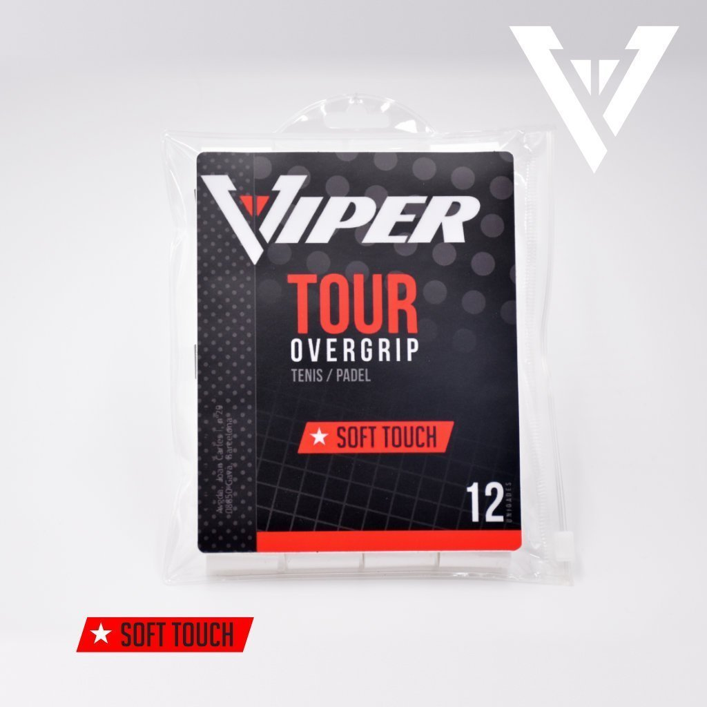 OVERGRIP Viper - TOUCH LISO Zip Bag 12 uds - VIPER - Enjoy Sports - Padel Tenis Badminton